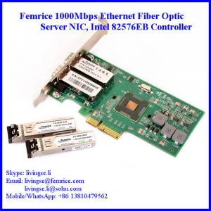 China 1000Mbps Ethernet Dual Port Server Network Card, SFP*2 Slot, PCI Express x4, LC Fiber Femrice 10002EF on sale