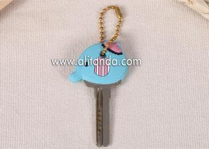 China Promotional gifts soft PVC key cap cover custom 3D house PVC rubber key cap cover PVC rubber key head on sale