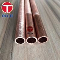 China Low Fin Seamless Copper Alloy Tube C10200 B75 12.7×1.2mm Annealed Finish on sale