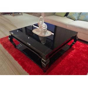 China Living Room Square Low Hotel Coffee Table Wooden High Grade 1000 * 1000 * 450mm on sale