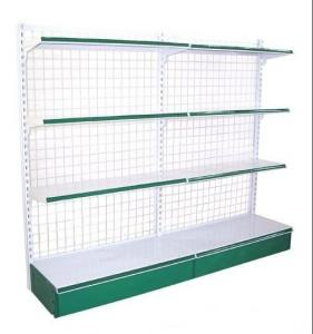 China Custom Electric Galvanized Chrome Plated Supermarket  Wire Steel Storage Shelves on sale
