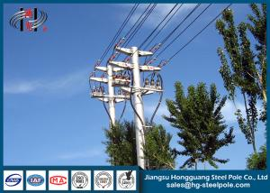 China Anti - Rust Electric Power Poles with Two Circult For Distribution Line Q235 on sale