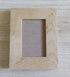 China American alder wood frames, wooden photo frames with glass front and standbacks on sale