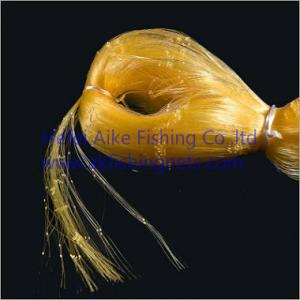 China 0.20mm*6ply nets,Nylon multi-mono fishing nets,germany material,shine yellow color,best strength and most soft on sale