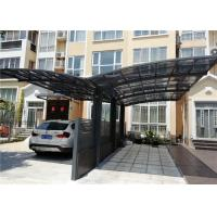 China Garage Shelter Polycarbonate Roof Double Cantilever Aluminum Carport on sale