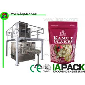 China Oats Zipper Bag Packing Machine Bag Filling And Sealing Packaging Machine Doypack Packaging Machine stand-up zipper Bag on sale