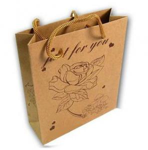 China Brown Kraft Paper Shopping Bags on sale