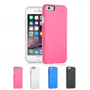 China Hybrid PC And Silicon Iphone Protective Cases Pink For Iphone 6 on sale