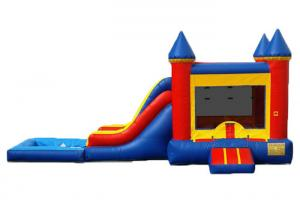 China Commercial Inflatable Bounce House Combo / Bounce House Wet Or Dry Combo on sale