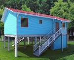 Good Space Utilization Portable Prefab Container House Strong Wind Resistant Cabin