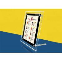 China Table Stand Ultra Thin Lightbox Menu Display, A4 Size Acrylic Illuminated Menu Box on sale