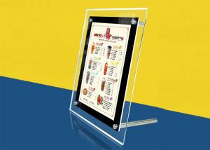 China Table Stand Ultra Thin Lightbox Menu Display , A4 Size Acrylic Illuminated Menu Box on sale