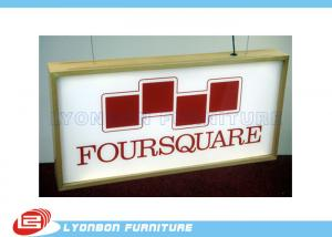 China Paint / Melamine Finished Wood Light Box For Retail , Wood Display Parts on sale