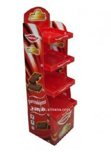 China 4 Tiers Color Printing Cardboard Display Stands Corrugated Paper for Personal Care Products on sale