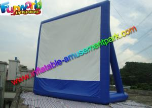 China 11 x 10 Dark Blue Inflatable Movie Screen , Inflatable Projector Screens / Theater on sale