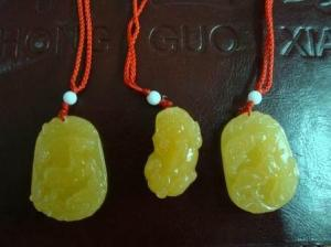China Beautiful Beige Jade Pendant on sale