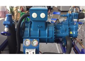 China Anti - Collision Bitzer Screw Compressor Unit For Meat Processing Factory 110HP on sale