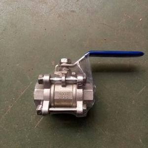 China 2pc female thread ball valve pn16 dn50 stainless steel 304 price on sale