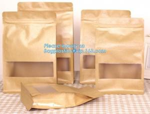 China Food grade kraft paper aluminum foil ziplock bag, packing cereals,condiments,candies,teas,nuts,snack,food packaging pac on sale