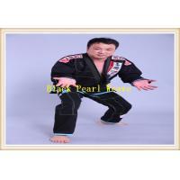 China Custom Jiu Jitsu Gi Martial Arts Clothing For Men , Black brazilian jiu jitsu suits on sale