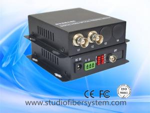 China 2ch analog video to fiber converter with audio or ptz data for CCTV system on sale