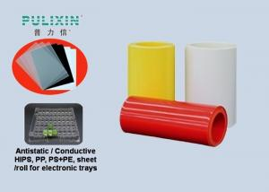 China Coated Conductive HIPS Sheet in roll for vacuum forming packaging tray on sale