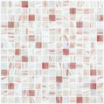 Branco da planície com linha backspalsh de vidro do ouro da cozinha do quadrado do teste padrão da mistura do mosaico