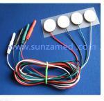 4色は電極cable&1.5MMピン、取り外し可能な摩耗センサーの電極019-400400を支持する白い泡が付いている浮上します