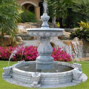 Quality Antique Large Carved Natural Marble Stone Garden Water Fountain  With Pool For Sale ...