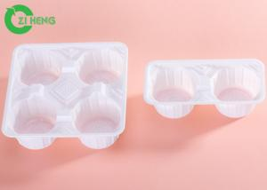 China Bottle Coffee PS Plastic Cup Carrier Trays Food Grade White / Black Color on sale