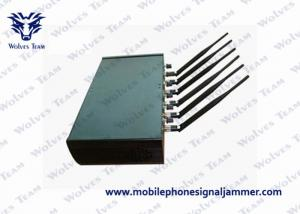 China High Power Cell Phone Scrambler , Cell Phone Blocking Device 6 Antenna WiFi GPS on sale