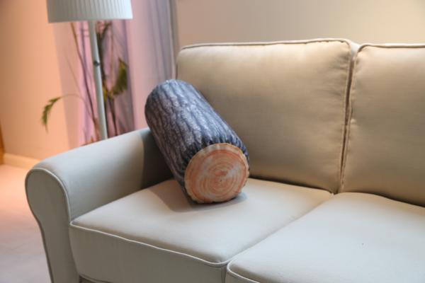 Stump Pattern Outdoor Textiles Microfiber Custom Sofa Cushions Cylindrical Images