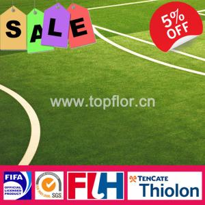 China Soccer Artificial Grass for Tracking Filed 20mm Height, PE Fibrilated Yarn on sale