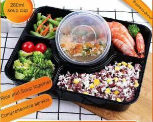 5-department takeaway tray Injection Disposable Plastic Food