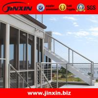 Stainless steel handrails for outdoor steps banisters
