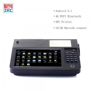 China 8inch touch screen auto-cutter 80mm thermal printer lottery billing pos with 4g wifi nfc scanner on sale
