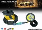 25000 Lux Brightest IP68 Waterproof Mining Cap Lights With Warning Red Light on Cable