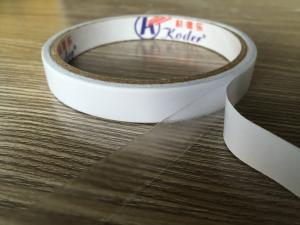 China Clear Double Sided Pet Adhesive Tape In Solvent Glue 80mic to 120mic Thickness on sale