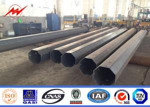 China 132KV Electrical Materials Octagonal Steel Power Pole , Galvanised Steel Poles on sale