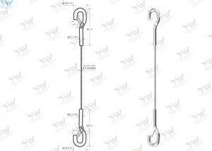 China Snap Hook End Photo Hanging System Ø 2.0 Mm Steel Wire Tracers With Hook Hanger on sale