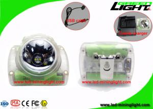 China 13000Lux High Power Cordless Mining Lights , Rechargeable Lightweight Coal Miner Helmet Lamp on sale