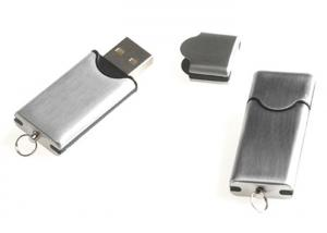 China Silver Metal Promotional USB Flash Drive Bulk With Laser or Printing Logo on sale