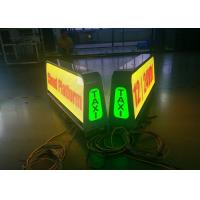 Advertising Digital taxi top led display , led taxi roof sign 5mm Pixel Pitch