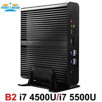 Partaker B2 Fanless Mini PC Intel Core I7 4500u i7 5500u i7 5550u i7 4558u Barebone Max 16G RAM 512G SSD 1TB HDD