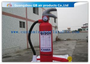 China Outdoor Display Red Inflatable Fire Extinguisher Model 3m For Fire Awareness on sale