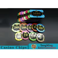 China Difficult To Distort Authentic Casino Poker Chips , Crystal Dice Poker Chips  on sale