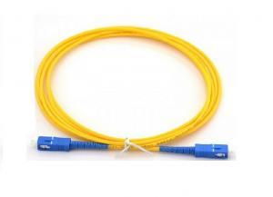China SC / UPC to SC / UPC Single mode simplex G652D 3M Fiber optic patch cord , 3.0mm on sale