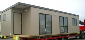 China Fireproof Portable Modern Modular Homes , Flat Roof Prefab House on sale