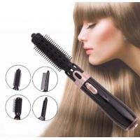 4 In 1 Multi-functional Hot Air Brush Negative Ionic Hair Straightener And Curler Brush