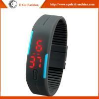 China Black Red Orange Watch Quartz Analog Watch Unisex Boys Girls Kids Watch Slap LED Watches on sale